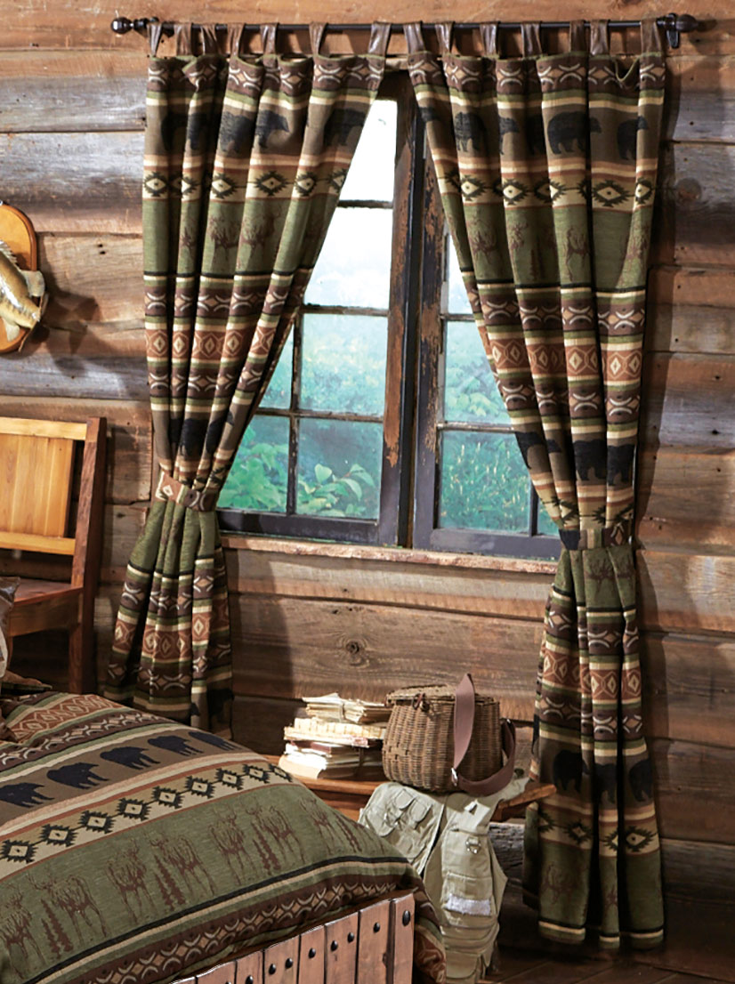 Completely new Rustic Bedding: Timber Woods Moose & Bear Bedding Collection|Black  KY91