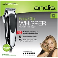 Andis EasyClip Whisper Super Deluxe Pet Clipper Kit (12 Pieces) andisluxclip15