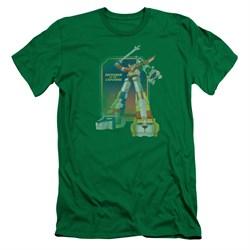 Voltron Shirt Slim Fit Distressed Defender Kelly Green Tee T-Shirt