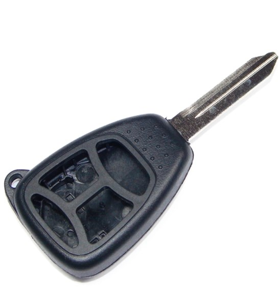 4 button Chrysler Dodge Jeep replacement case/shell with blank key